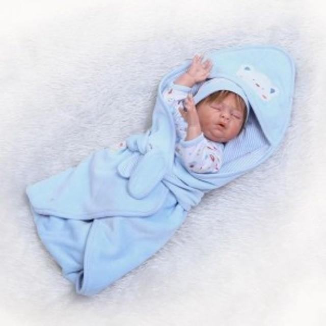 リボーンドール リアル赤ちゃん人形 フルシリコンビニールかわいいベビー人形お世話セット ハンドメイド お口を開けておねんね