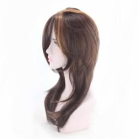 【送料無料】ウィッグ 自然 小顔 フルウィッグ カール ロング フリーサイズ レディーズ  かつら 前髪