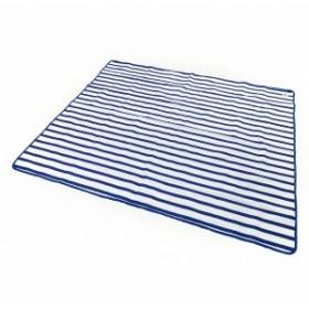 ロゴス(LOGOS) BORDER 防水シート 145×185cm:ブルー×ホワイト (73179055)
