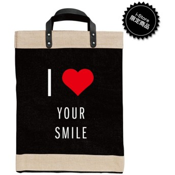 【アポリス(APOLIS)】 ◆◆I Heart Your Smile マーケットバッグ ブラック