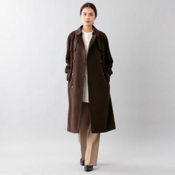 SALE【サンヨー コート ウィメン(SANYO COAT WOMEN)】 <Rain Wool>ウールカシミヤダブルトレンチコート ブラウン