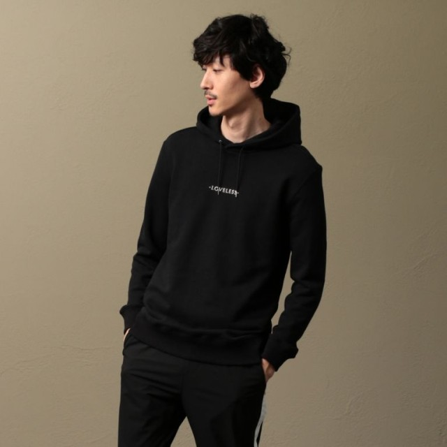 【ラブレス(LOVELESS)】 【LOVELESS】MEN ポリクレストロゴパーカー ブラック