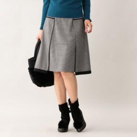 SALE【トゥー ビー シック(TO BE CHIC)】 千鳥ツイードスカート 黒柄物