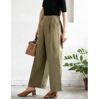 パンツ・ズボン全般 - Re: EDIT 大人カジュアルにクラス感をプラスするワイドパンツ コットングログランワイドパンツ ボトムス/パンツ/ワイドパンツ・ガウチョパンツ