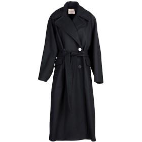 《期間限定 セール開催中》ERIKA CAVALLINI レディース コート ブラック 46 バージンウール 80% / ナイロン 20%