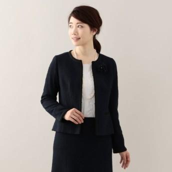 SALE【トランスワーク(TRANS WORK)】 ストレッチファンシージャケット ネイビー