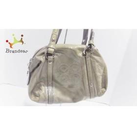 コーチ COACH ハンドバッグ 美品 オードリーパーフォレイテッドスモールバッグ 45570 カーキ   スペシャル特価 20191012