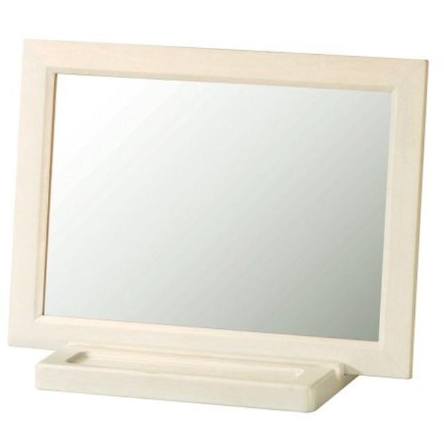 鏡 ミラー ホワイト卓上ミラー