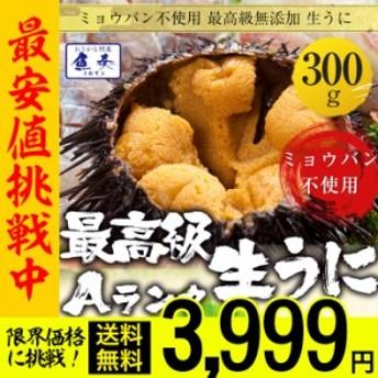 【 最安挑戦ご提供! 】【最安値挑戦中】うに 雲丹 ウニ 冷凍生うに 無添加 300g 100g×3パック 最高級Aグレード うに丼 クーポン使用