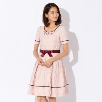 SALE【トゥー ビー シック(TO BE CHIC)】 フラワージャカードドレス ピンク