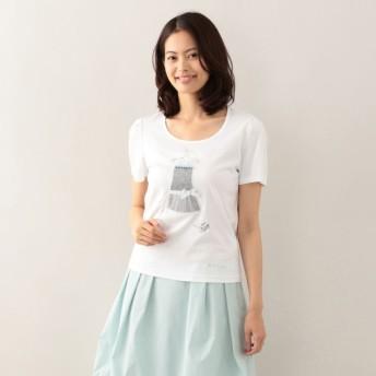 SALE【トゥー ビー シック(TO BE CHIC)】 【L】ドレスモチーフカットソー オフホワイト