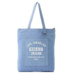 ゲス GUESS EMBROIDERY DENIM TOTE BAG (LIGHT BLUE)