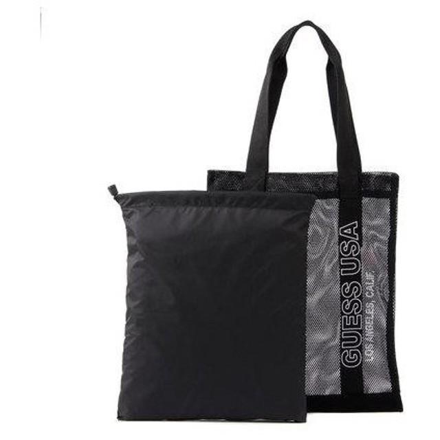 ゲス GUESS MESH TOTE BAG (BLACK)