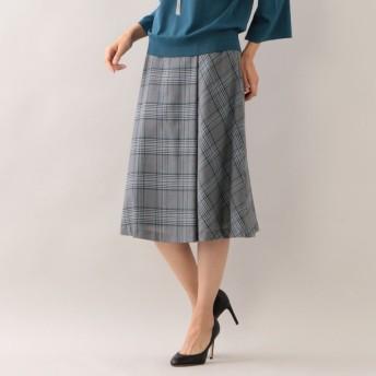 SALE【トランスワーク(TRANS WORK)】 【ウォッシャブル】グレンドビースカート ブルー