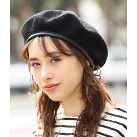 ベレー帽 - ViS 合皮パイピング付きサーモベレー帽