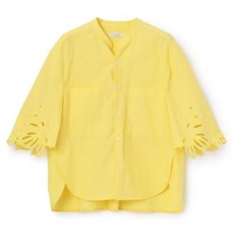 SALE【エポカ ザ ショップ(EPOCA THE SHOP)】 【near. nippon】カットワーク刺繍ブラウス イエロー3