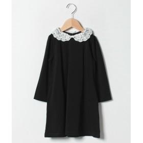 コムサイズム 替え衿付き 長袖 ワンピース レディース ブラック 110cm 【COMME CA ISM】