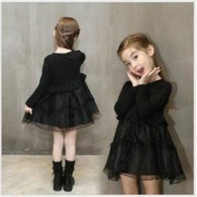 子供 長袖 ドレス ファッション ワンピース 春秋着 子供 ワンピース 女の子 ワンピース お姫様ドレス こども フォーマルドレスRX495