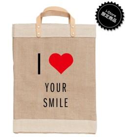 【アポリス(APOLIS)】 I Heart Your Smile マーケットバッグ ベージュ