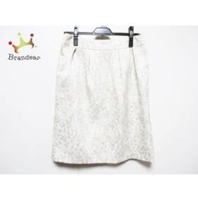 ジユウク 自由区/jiyuku スカート サイズ40 M レディース 白×ベージュ   スペシャル特価 20190511