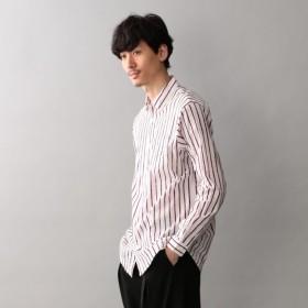 SALE【ラブレス(LOVELESS)】 【LOVELESS】MENS バティックストライプオーバーシャツ レッド