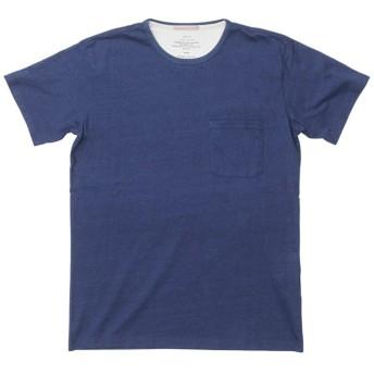 SALE【アポリス(APOLIS)】 インディゴポケットTシャツ ネイビー