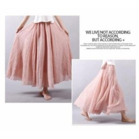 フレアスカート 85㎝ 綿 麻 レディース