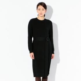 SALE【エポカ ザ ショップ(EPOCA THE SHOP)】 【E_EPOCA THE SHOP】 ウェストマークニットドレス ブラック
