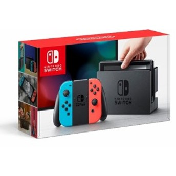 【中古】Nintendo switch(ニンテンドースイッチ)本体 Joy-Con ネオンブルー/ ネオンレッド 任天堂 / 中古 ゲーム
