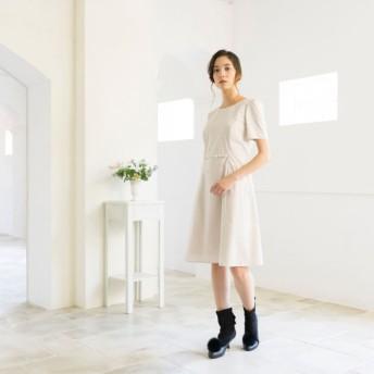 SALE【トゥー ビー シック(TO BE CHIC)】 コットンタイプライタードレス ベージュ
