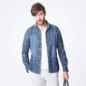 SALE【エポカ ウォモ(EPOCA UOMO)】 ダンガリー ホリゾンタルカラーシャツ ダンガリー ホリゾンタルカラーシャツ ブルー3
