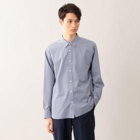 SALE【エムピー ストア(MP STORE)】 マイクロチェックレギュラーカラーシャツ マイクロチェックレギュラーカラーシャツ ブルー