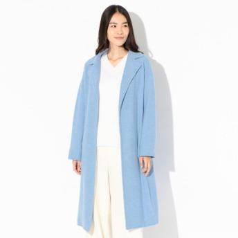 SALE【マッキントッシュ ロンドン ウィメン(MACKINTOSH LONDON WOMEN)】 14ゲージウール丸編みコート ブルー