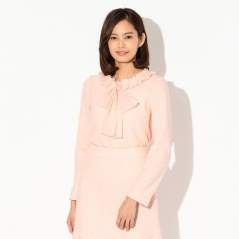 SALE【トゥー ビー シック(TO BE CHIC)】 ★★ソフトブークレーブラウス ピンク