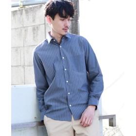 【20%OFF】 タケオキクチ 切り替えストライプ ストレッチシャツ メンズ グレー(012) 04(LL) 【TAKEO KIKUCHI】 【セール開催中】
