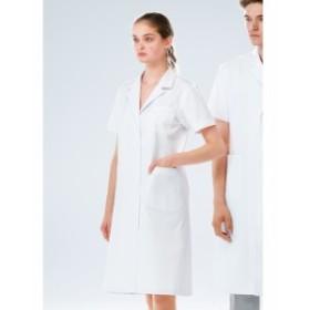 EP132 ナガイレーベン Naway Emit 女性用シングル診察衣半袖白衣 白衣 看護師用 ナース 女性 薬局・薬剤師 通販 白衣ネット)
