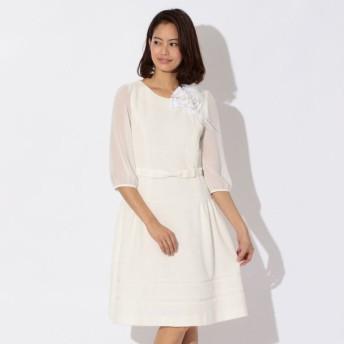 SALE【トゥー ビー シック(TO BE CHIC)】 ★★ツィードジャージードレス オフホワイト