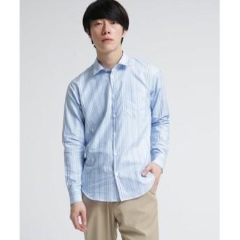 tk.TAKEO KIKUCHI / ティーケー タケオキクチ 超長綿ランダムストライプシャツ