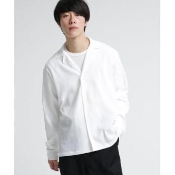 tk.TAKEO KIKUCHI / ティーケー タケオキクチ 楊柳ワッシャーオープンカラーシャツ