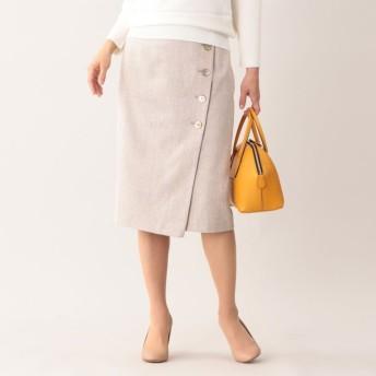 SALE【ポール・スチュアート ウィメン(Paul Stuart WOMEN)】 【ウォッシャブル】カラーミックスサマーツィードスカート ベージュ