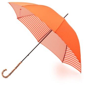 【マッキントッシュ フィロソフィー ウィメン(MACKINTOSH PHILOSOPHY WOMEN)】 【晴雨兼用】裏ボーダーMP長傘 オレンジ