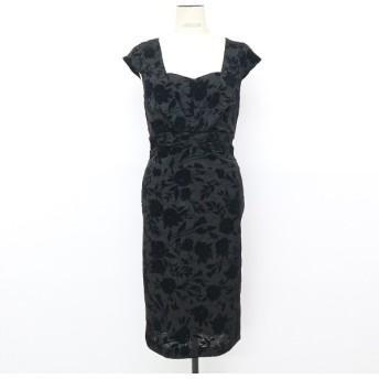 [マルイ]【セール】フロッキーフラワーデザインドレス/アンビエント(AMBIENT)