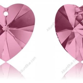 【スワロフスキー#6228】36粒 XILION Heart ペンダント 10.3x10mm ライトローズ (223)