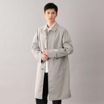 【サンヨーコート メン(SANYOCOAT MEN)】 <Spring Coat>ダブルクロス先染めツイルステンカラーコート グレー
