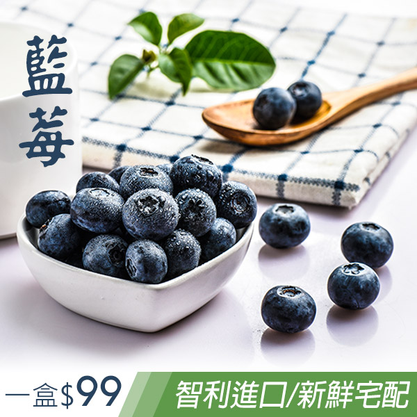 藍莓水果智利進口新鮮宅配到府(一箱12盒)