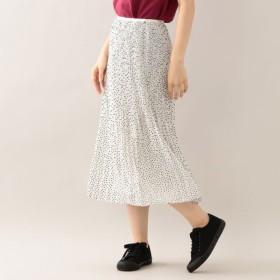SALE【エムピー ストア(MP STORE)】 ドットプリーツスカート ドットプリーツスカート ホワイト