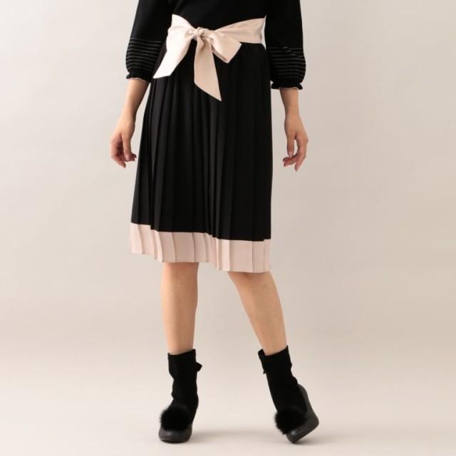 SALE【トゥー ビー シック(TO BE CHIC)】 【L】ノルディスジョーゼットプリーツスカート 【L】ノルディスジョーゼットプリーツスカート ブラック