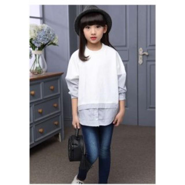 5ada8e1390402 韓国 子供服 新作 女の子 ファッション キッズ 子ども トップス 長袖 Tシャツ こども服 tシャツ