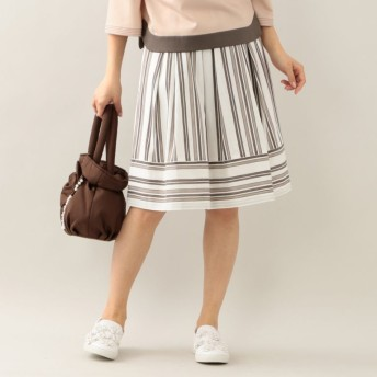 SALE【トゥー ビー シック(TO BE CHIC)】 シャンタンストライプスカート カーキ