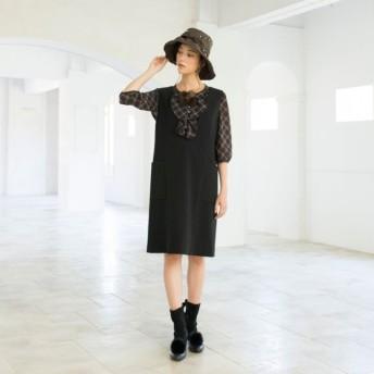 SALE【トゥー ビー シック(TO BE CHIC)】 ダブルジョーゼットジャンパースカート ブラック